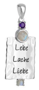 Meya Lebe-lache-liebe Anhänger Regenbogenmondstein (Andere)